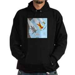 Squirrel and Basejumpers Cartoon Hoodie