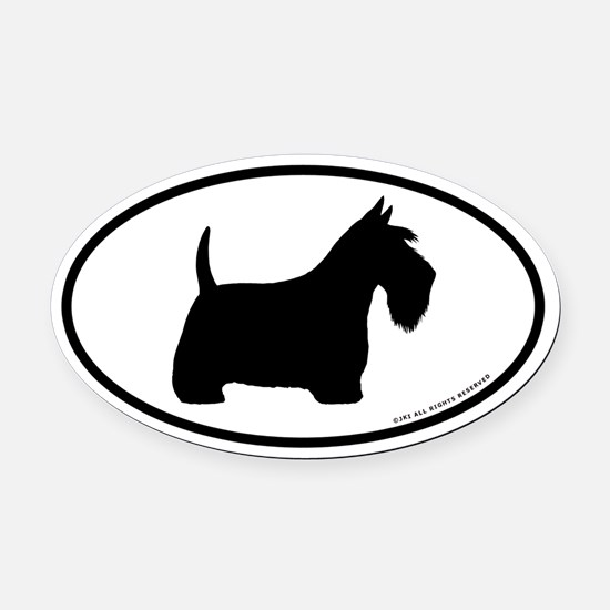 Scottish Terrier Oval Car Magnet