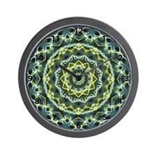 Shining Stars kaleidoscope with numbers Wall Clock