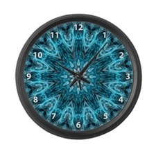 Intricate snowflake with numbers Large Wall Clock