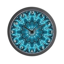 Intricate snowflake with numbers Wall Clock