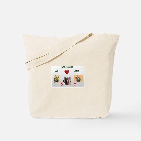 Nerd Birds We Love CTP Tote Bag