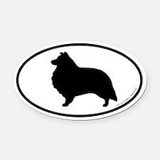 Sheltie Oval Car Magnet