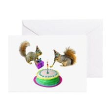 Squirrels Birthday Greeting Cards (Pk of 20)
