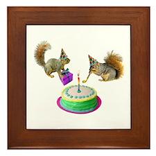 Squirrels Birthday Framed Tile