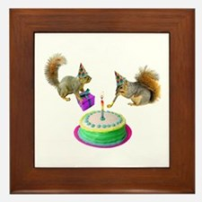 Squirrels Birthday Framed Tile