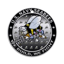 US Navy Seabees Swarm Ornament (Round)