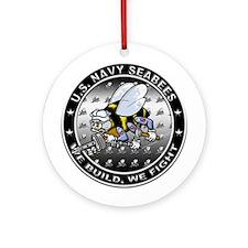 US Navy Seabees Swarm Ornament (Round)