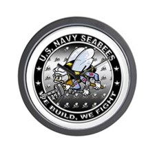 US Navy Seabees Swarm Wall Clock