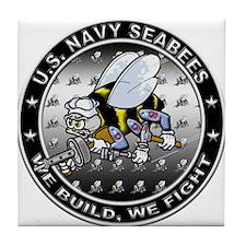 US Navy Seabees Swarm Tile Coaster