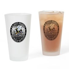 US Navy Seabees Swarm Drinking Glass