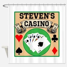 Personalized Casino Shower Curtain