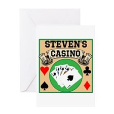 Personalized Casino Greeting Card