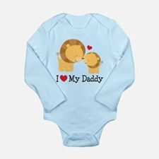 I Heart My Daddy Long Sleeve Infant Bodysuit