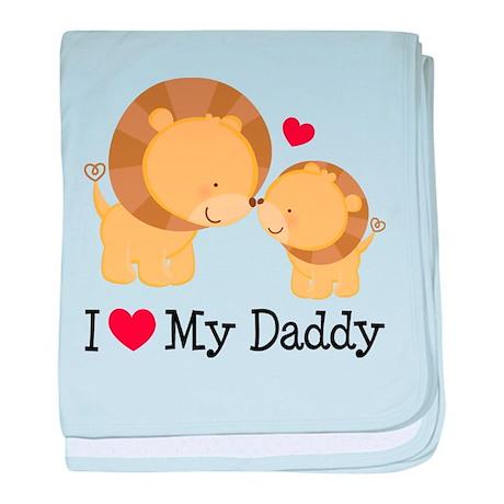 I Heart My Daddy baby blanket