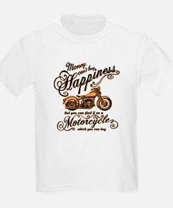Happiness - Motorcycle T-Shirt