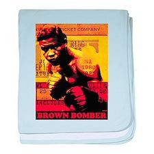 Joe Louis - Brown Bomber baby blanket