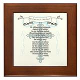 St michael prayer Framed Tiles