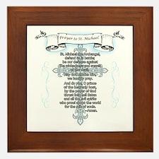 Prayer to Saint Michael Framed Tile