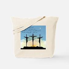 Jesus Crucifixion/John 3:16 Tote Bag