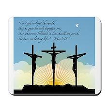 Jesus Crucifixion/John 3:16 Mousepad
