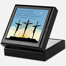 Jesus Crucifixion/John 3:16 Keepsake Box