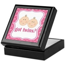 Twin Girls Baby Keepsake Keepsake Box