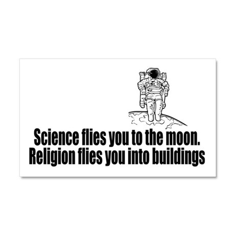 Science flies you to the moon Car Magnet 20 x 12