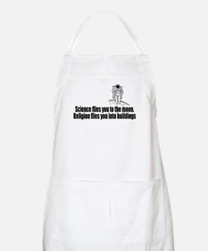 Science flies you to the moon Apron
