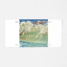 NEPTUNE'S HORSES Aluminum License Plate