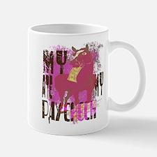 My Horse Ate My Paycheck pink Mug