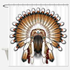 Native War Bonnet 01 Shower Curtain