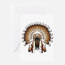Native War Bonnet 01 Greeting Card