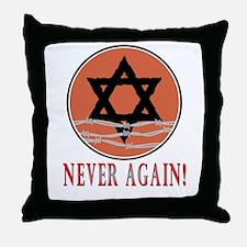 Never Again Throw Pillow