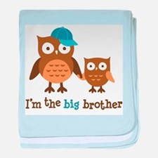 Big Brother - Mod Owl baby blanket