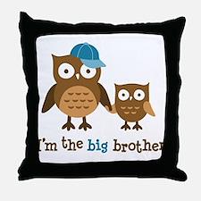 Big Brother - Mod Owl Throw Pillow