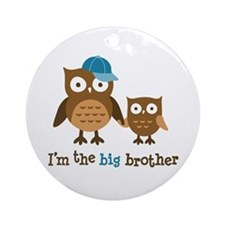 Big Brother - Mod Owl Ornament (Round)