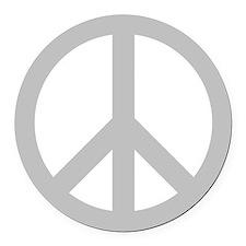 Peace Symbol Round Car Magnet