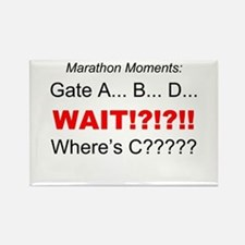 Marathon Moments - Wheres C? Rectangle Magnet
