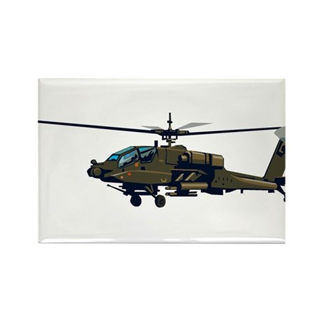 Helicopter Rectangle Magnet (100 pack)