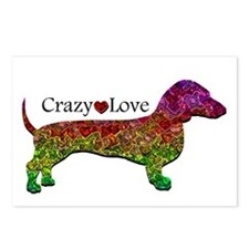 Dachshund - Crazy Love Postcards (Package of 8)