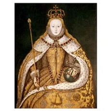 Queen Elizabeth I in Coronation Robes, c.1559-1600 Poster