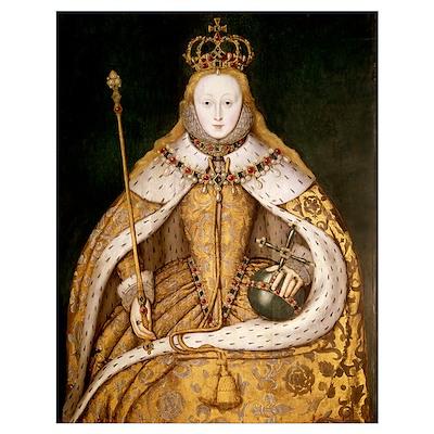 Queen Elizabeth I in Coronation Robes, c.1559-1600 Poster