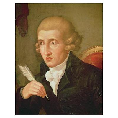 Portrait of Joseph Haydn (oil on canvas) Poster