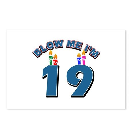 Blow Me I'm 19 Postcards (Package of 8)