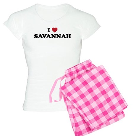 I Love Savannah Georgia Women's Light Pajamas