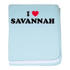 I Love Savannah Georgia baby blanket