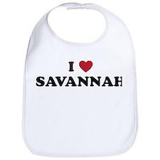 I Love Savannah Georgia Bib