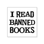 I Read Books Square Sticker 3