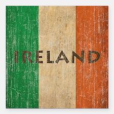 "Vintage Ireland Square Car Magnet 3"" x 3"""